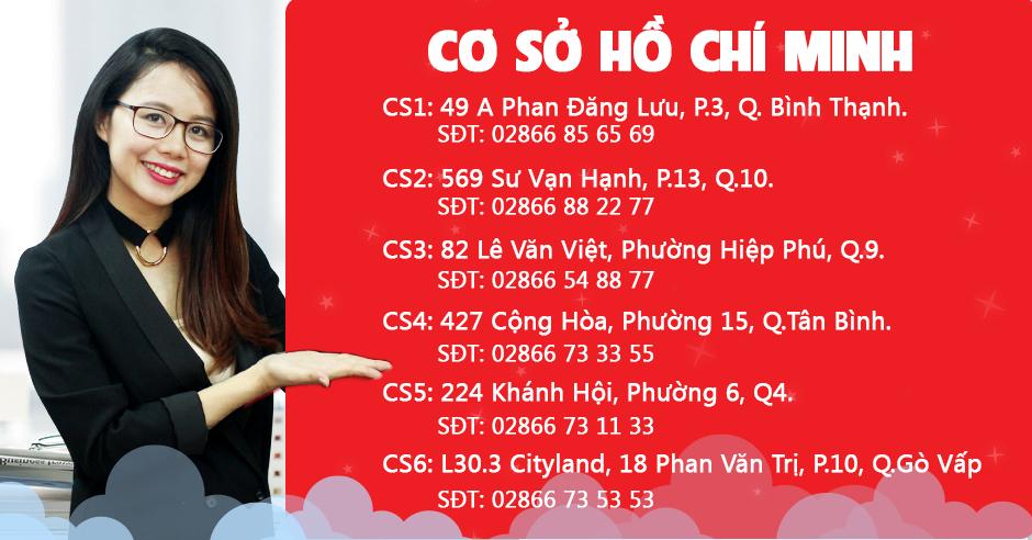Hệ thống cơ sở Ms Hoa TOEIC Hồ Chí Minh