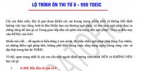 Lộ trình ôn thi 990 TOEIC dành cho người mất gốc