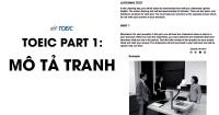PHƯƠNG PHÁP HỌC TOEIC PART 1: MÔ TẢ TRANH