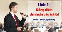 Unit 1: Read a Text Aloud Scoring Guidelines (Bảng điểm đánh giá câu trả lời Part I - TOEIC Speaking)