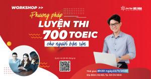 Workshop tháng 11: Phương pháp học TOEIC cho người bận rộn