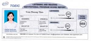 Trần Phương Thảo – 855/990 Chúc mừng em