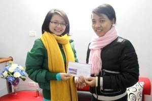 Vinh danh học viên Nguyễn Thị Hương – Học viên lớp B71