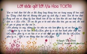 Em ghen tị vì các bạn Hà Nội có Ms Hoa - Nguyễn Thị Thắm
