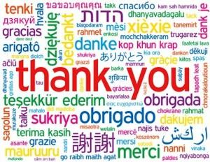 Những cách khác nhau để nói Cảm ơn trong tiếng Anh