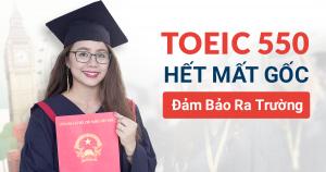 Khóa học TOEIC A (MỤC TIÊU 500-550+)