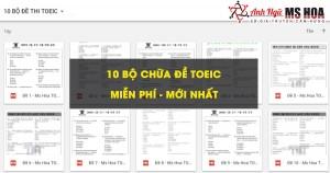 TRỌN BỘ CHỮA ĐỀ ETS TOEIC 2020_ANH NGỮ MS HOA
