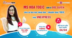 Báo điện tử Vnexpress.net mời hợp tác độc quyền chia sẻ mục học tiếng Anh