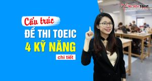 Cấu trúc đề thi TOEIC 4 kỹ năng chi tiết nhất