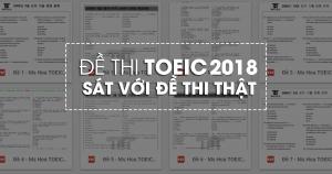 Trọn bộ Sách TOEIC sát với đề thi thật TOEIC 2018 nhất