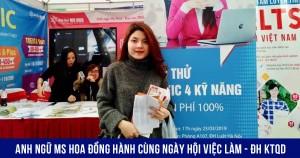 Anh ngữ Ms Hoa đồng hành cùng Ngày hội việc làm tại ĐH Kinh tế Quốc Dân