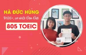 Hà Đức Hùng: Nộp TOEIC 805 lên Học viện để được miễn môn tiếng Anh
