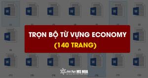 [Tài liệu] Trọn bộ từ vựng TOEIC Economy