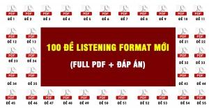 Đề thi thử TOEIC Listening format mới (Có chấm điểm)