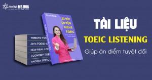 TRỌN BỘ TÀI LIỆU ẴM TRỌN ĐIỂM TOEIC LISTENING {Full PDF + Audio}