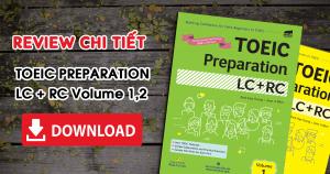 Trọn bộ TOEIC Preparation LC + RC Volume 1, 2 {PDF + Audio}