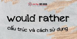 Cấu Trúc WOULD RATHER trong tiếng  Anh và Cách sử dụng