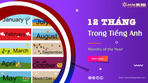 Các tháng trong tiếng Anh (Months of the Year)