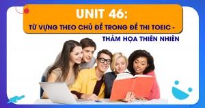 Unit 46: Từ vựng theo chủ đề trong đề thi Toeic - Thảm họa thiên nhiên