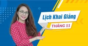 Lịch khai giảng các lớp TOEIC tại Hà Nội tháng 11/2018
