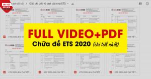 TRỌN BỘ CHỮA ĐỀ ETS TOEIC 2020 ANH NGỮ MS HOA