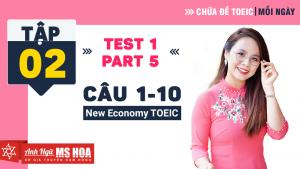 Khóa Luyện đề TOEIC online - Unit 2: Chữa đề TOEIC Listening Part 5 | Anh ngữ Ms Hoa