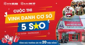 Cuộc thi VINH DANH CƠ SỞ 5 SAO giải thưởng lên tới 20 triệu đồng