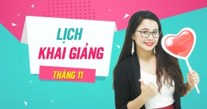 Lịch khai giảng các lớp TOEIC tháng 11/2018 tại TP. Hồ Chí Minh