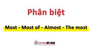 Phân biệt most, most of, almost, và the most