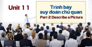 Unit 11: Trình bày suy đoán chủ quan - Part 2 Describe a Picture