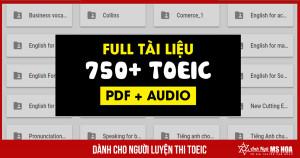 Tổng hợp Bộ sách luyện thi TOEIC Level 750+ TOEIC