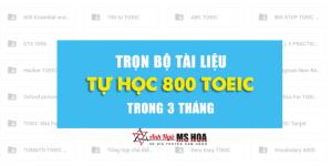 TẤT TẦN TẬT TÀI LIỆU CHINH PHỤC 800+ TOEIC TRONG 3 THÁNG