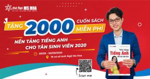 Tặng 2000 cuốn sách tiếng Anh miễn phí cho tân sinh viên 2020