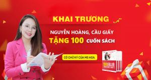 100 cuốn sách TOEIC Free nhân dịp khai trương cơ sở Nguyễn Hoàng, Mỹ Đình, Hà Nội