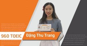 Bứt phá sau 1 khóa học - Thu Trang cán đích 960đ TOEIC