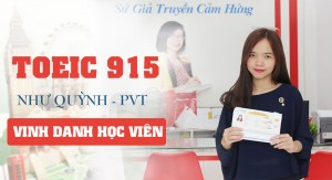 Chắp cánh ước mơ du học với 915đ TOEIC của Ms Như Quỳnh