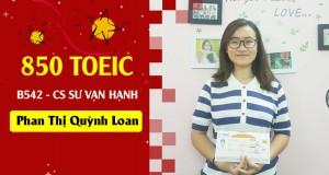 Hành trình 60 ngày chinh phục 850đ TOEIC của Quỳnh Loan
