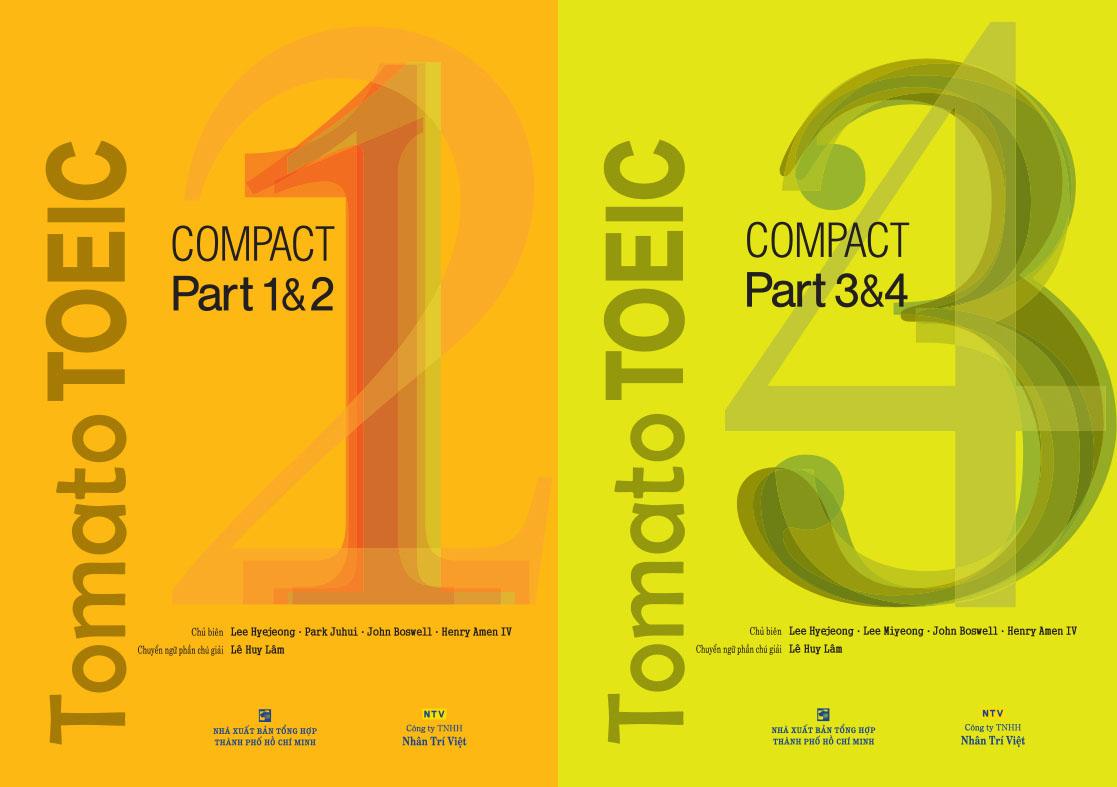 Sách Tomato TOEIC compact part 1&2 và Tomato TOEIC compact part 3&4