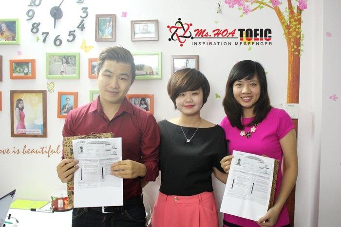 Học viên lớp TOEIC 4 kỹ năng B+ tại Anh Ngữ Ms Hoa