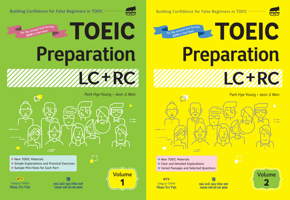 Sách TOEIC Preparation LC + RC Volume 1, 2