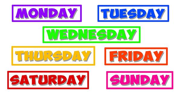 Cách viết ngày trong tuần bằng tiếng Anh