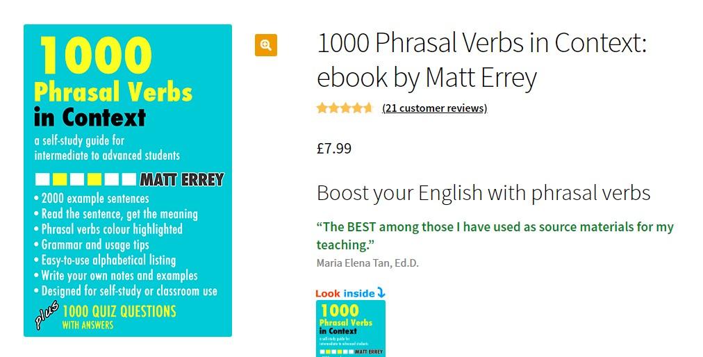 1000 phrasal verb in context