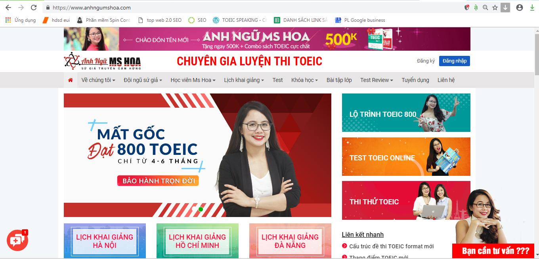 Website tự học TOEIC Anhngumshoa.com