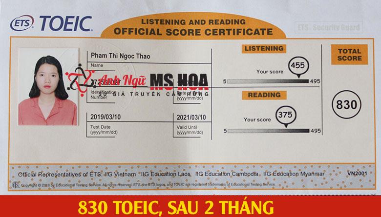 học viên điểm cao 830 toeic_anhngumshoa